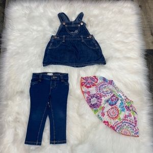 2/$25 Baby Girl Bottoms & Tinkerbelle Outfit